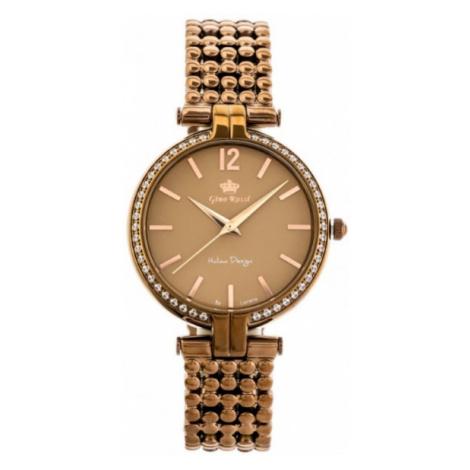 Dámske hnedé hodinky Gino Rossi 11378B-2B3