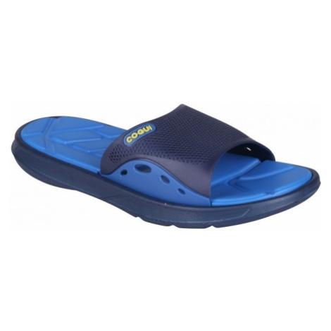 Coqui MELKER tmavo modrá - Pánske šľapky