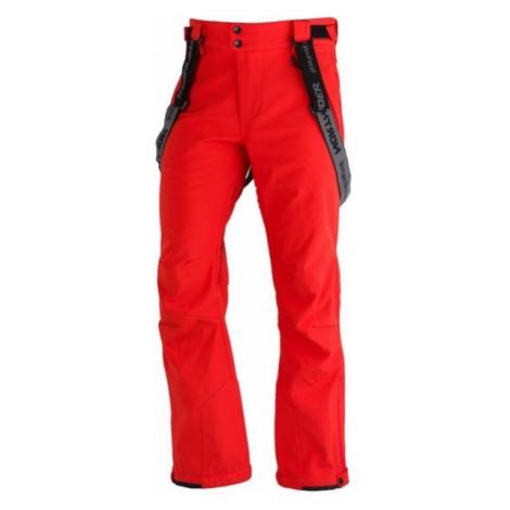 Northfinder LUX červená - Pánske softshellové lyžiarske nohavice