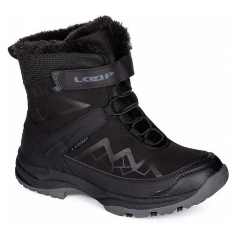 Loap TOPAS čierna - Detská zimná obuv