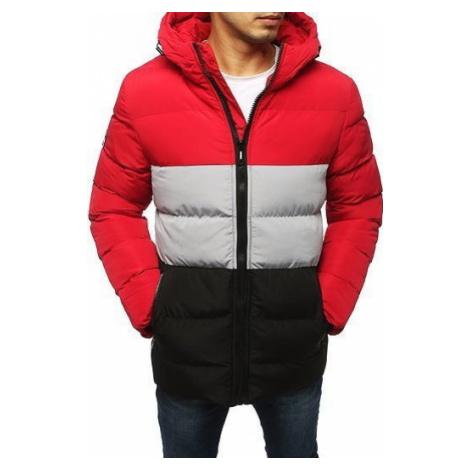 Red men's quilted winter jacket TX3114 DStreet