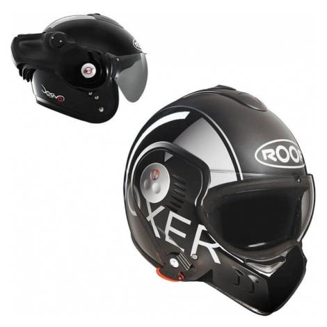 Moto prilba Roof Boxer V8 Grafic Farba čierno-šedá