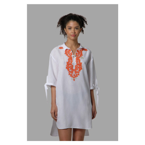 Šaty La Martina Woman Dress Viscose Linen