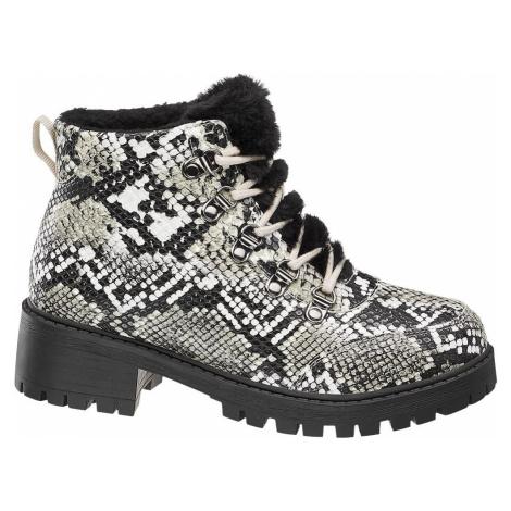 Vero Moda - Šnurovacia obuv so zvieracím vzorom Vero Moda