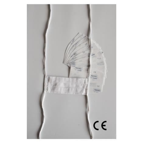 NANO MED.CLEAN Rouška skládaná + 10x NANO MED.CLEAN  filtr - barva:B03/biela Triola