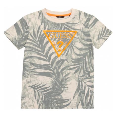 GUESS Tričko  béžová / sivá / oranžová