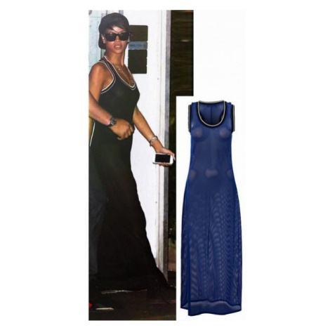 Dlhé trendy modré šaty Riri