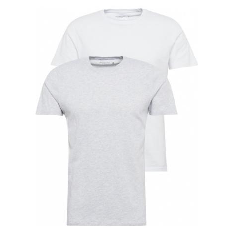 Abercrombie & Fitch Tričko  biela / svetlosivá
