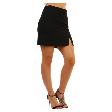 Dámska krátka spoločenská sukňa s rázporkom