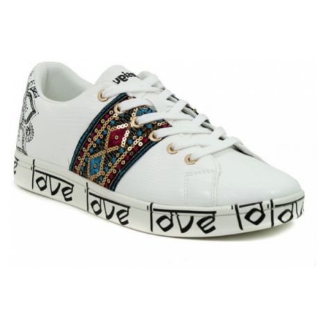 Desigual biele tenisky Shoes Cosmic Exotic Indian