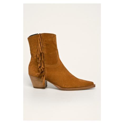 Pinko - Kožené kovbojské topánky