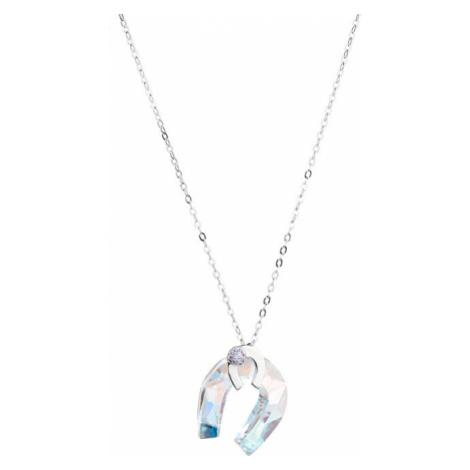 Preciosa Strieborný náhrdelník s trblietavou podkovou Felicity 56s