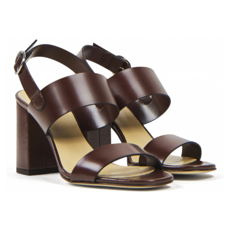 Sandále Brooks Brothers Acc Fshn Shoe Bck Strp Sndl Drkbrwn