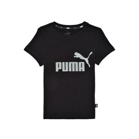 Puma ESSENTIAL LOGO TEE Čierna