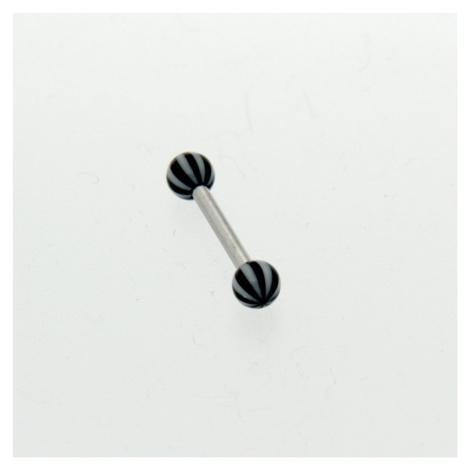 Strieborný piercing 14445