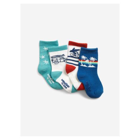 Ponožky 4 páry dětské GAP Modrá