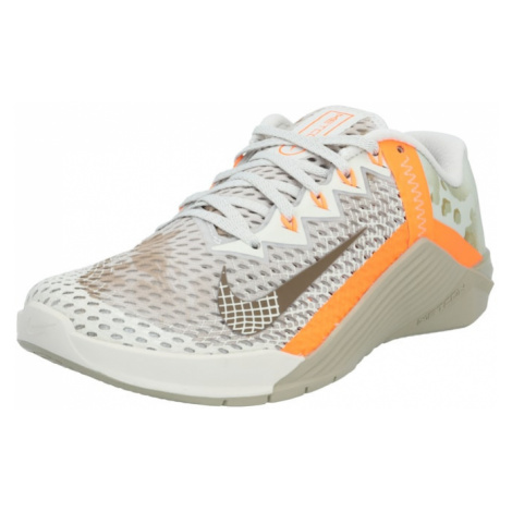 NIKE Športová obuv 'Metcon 6'  oranžová / biela / béžová