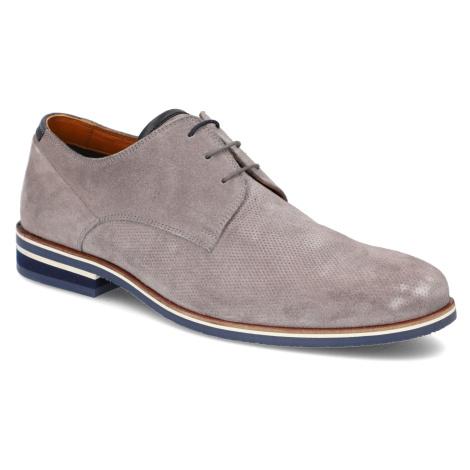 Pat Calvin velúr Elegantná šnurovacia obuv šedá