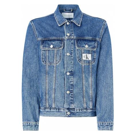 Calvin Klein Jeans Prechodná bunda  modrá denim