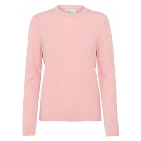 Colorful Standard Women Light Merino Wool Crew-L ružové CS5084-FP-L