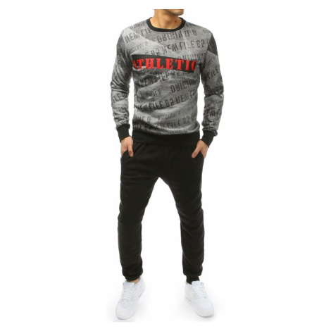 Gray and black men's tracksuit AX0187 DStreet