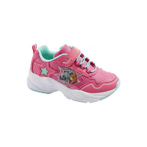 Ružové tenisky na suchý zips Labková patrola