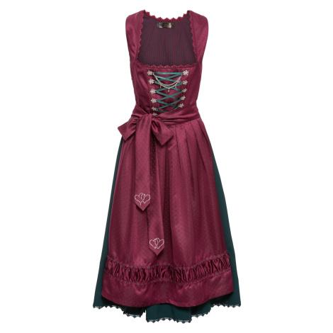 Krojové šaty dirndl so saténovou zásterou bonprix