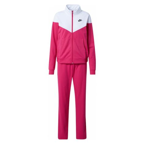 Nike Sportswear Joggingová súprava  biela / tmavoružová