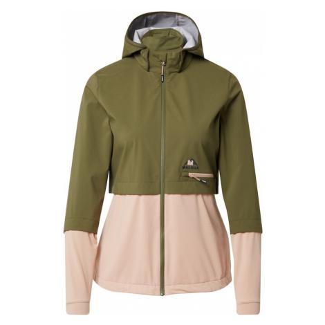 Maloja Športová bunda  olivová / ružová