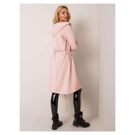 Ružový dlhý kardigan s kapucňou