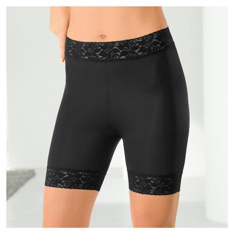 Blancheporte Čipkované nohavičky panty, sťahujúce čierna
