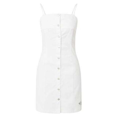 Calvin Klein Jeans Šaty  biela / čierna