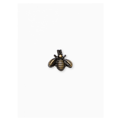 Ombre Clothing Men's lapel pin insect A224 Brown