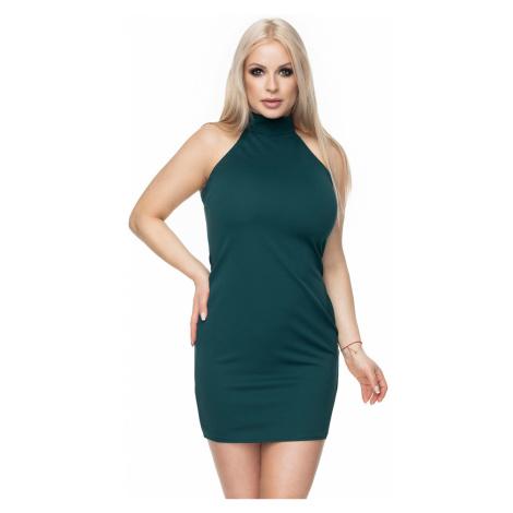 Tmavozelené šaty 0116 PeeKaBoo