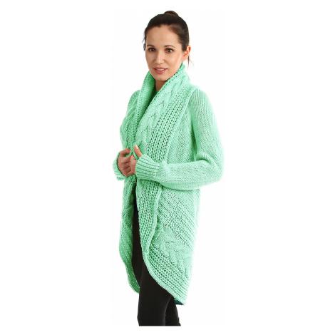 Dámsky pletený sveter bez zapínania