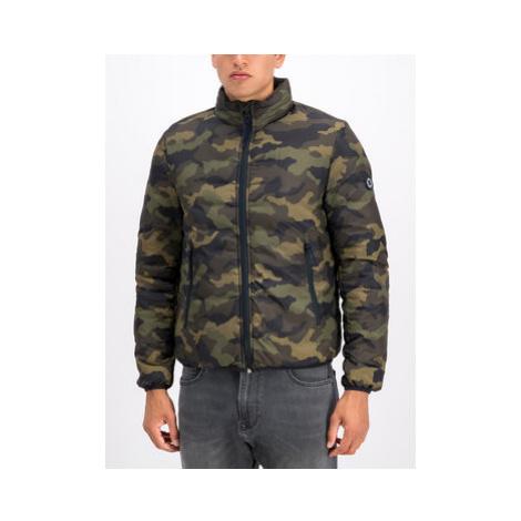 Pepe Jeans Vatovaná bunda Rick Printed PM402137 Zelená Regular Fit
