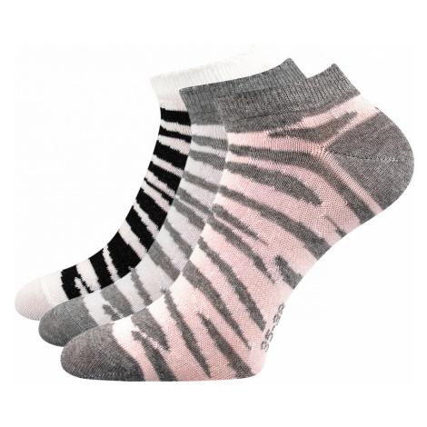 3 PACK dámskych ponožiek Piki 57 mix Boma