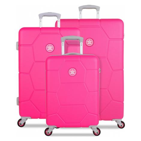 SUITSUIT TR-1248/3 Caretta Hot Pink – súprava 3 kufrov