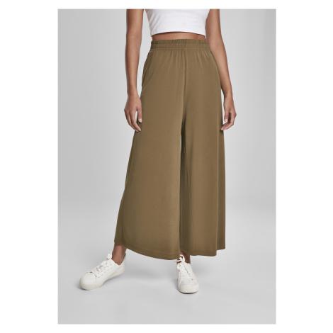 Dámske nohavice URBAN CLASSICS Ladies Modal Culotte summerolive