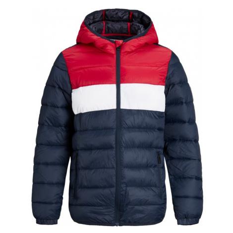 Jack & Jones Junior Prechodná bunda  biela / červená / námornícka modrá