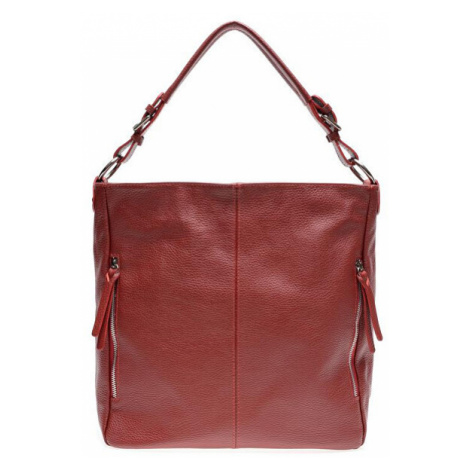 Carla Ferreri Dámska kožená kabelka AW20CF1657 Rosso Scur