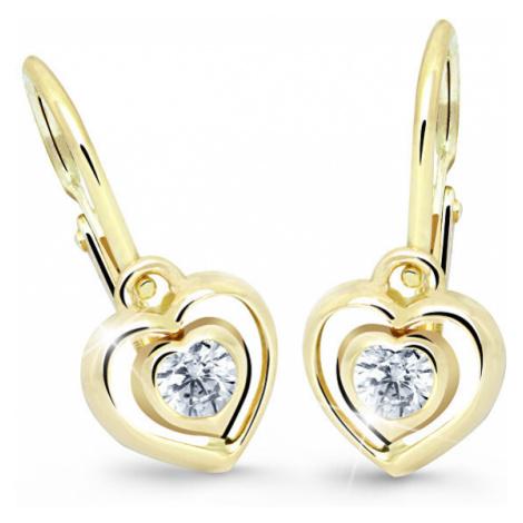Cutie Jewellery Detské náušnice srdiečka C2752-10-X-1 tyrkysová