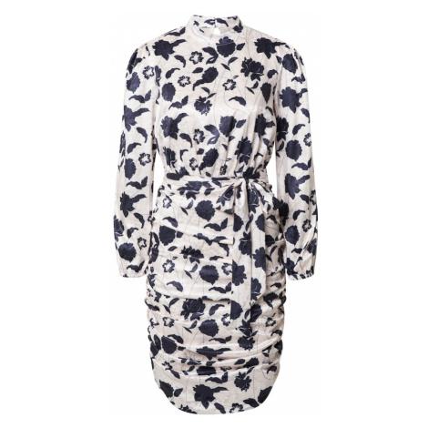 Chi Chi London Kokteilové šaty 'Albina'  biela / námornícka modrá