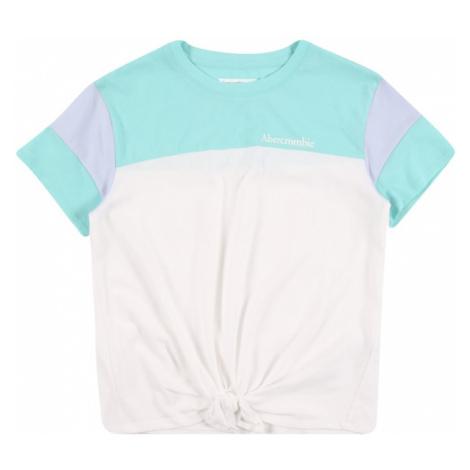 Abercrombie & Fitch Tričko  biela / tyrkysová / levanduľová