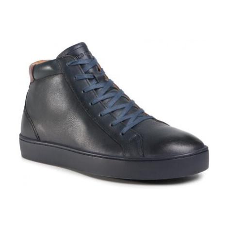 Šnurovacia obuv Gino Rossi MI07-A973-A802-11 Prírodná koža(useň) - Lícova