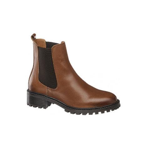 Hnedá kožená Chelsea obuv 5th Avenue