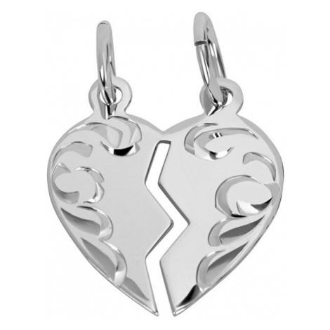 Brilio Silver Partnerský šperk - Strieborný prívesok pre páry 001 04