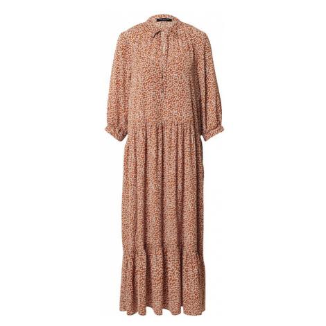 SELECTED FEMME Košeľové šaty 'Fraja-Madison'  krémová / karamelová
