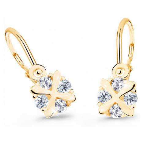 Cutie Jewellery Nežné detské náušnice zo žltého zlata C2753-10-X-1 světle modrá