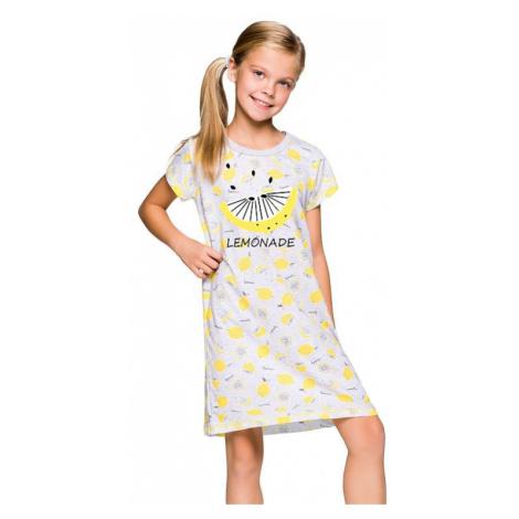 Dievčenská košeľa Pepa šedá citróny Taro